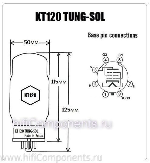 KT120 Tung-Sol  PM (Platinum Matched)